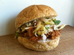 Korean Burgers with Slaw - Not for Coco