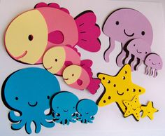 Under the Sea DIY birthday party die cuts by SnIDesignsnSupplies, $10.00