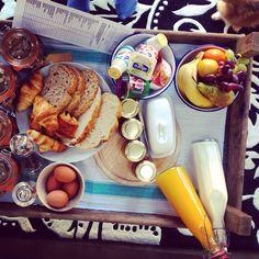 Continental breakfast at Tidwell Farm, Devon. #tidwellfarm #devon #breakfast #foodie