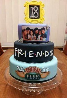48 Super Tv Shows Birthday Friend Cake Ideas,friends cake decorations,friends birthday cake topper,friends themed cake decorations Friends Birthday Cake, Friends Cake, Sweet 16 Birthday, Birthday Parties, Cake Birthday, Birthday Quotes, Birthday Surprise Ideas, 16 Birthday Gifts, Tumblr Birthday Cake