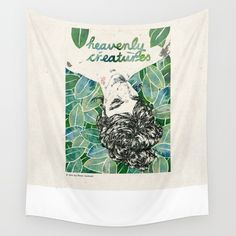 Heavenly Creatures. Wall Tapestry. #movies-tv #illustration