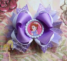 Sofia hair bow Disney princess hair bow over the by JaybeePepper, $7.75