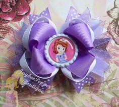 Sofia hair bow Disney princess hair bow over the by JaybeePepper, $7.75