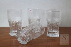Iittala ASLAK beer glass - FourSeasons.fi Clear Glass, Glass Art, Colored Glass, Scandinavian Design, Beer, Vase, Pattern, Coloured Glass, Root Beer
