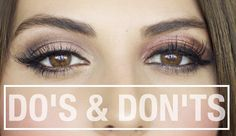 Hooded Eyes Makeup Do's and Don'ts for people like me with hooded eyes.