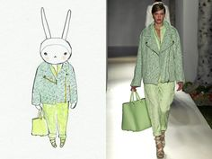 """Fifi Lapin: """"Today I'm wearing Mulberry"""""""