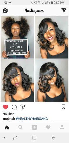 Girls Natural Hairstyles, Work Hairstyles, Black Girls Hairstyles, Love Hair, Great Hair, Gorgeous Hair, Pressed Natural Hair, Natural Hair Blowout, Curly Hair Styles