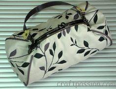 Handmade Frame Clutch Handbag | Free Pattern & Tutorial at CraftPassion.com
