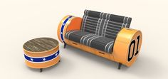 Oil Drum Furniture by Asger Troest, via Behance