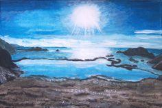 Seaside Summer Eve Original Painting on by MarisaOriginalArt, £25.00