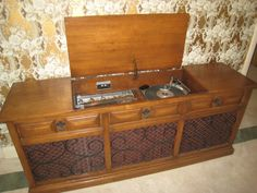 The console stereo...very popular during the 1960s and '70s... A Beauty