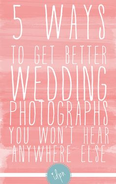 1) Put on Your Jewelry After Your Dress  2) Give Team Groom Some Room  3) Skip the Aisle Runner  4) Stand By Your Toasters  5) Have Your First Dance Second    6} Hire www.nathanandnatosha.com ;)