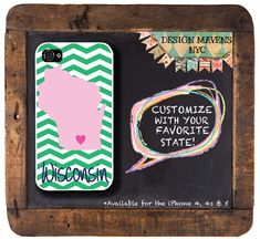 Personalized iPhone Case, State Love Wisconsin Plastic iPhone Case, Fits iPhone 4, iPhone 4s & iPhone 5, Phone Cover, Phone Case on Etsy, $16.99