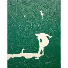 "Michael Assiff \ Untitled (Henri Rousseau, ""The Charm""), 2016 (plastic on canvas) #michaelassiff #galerievalentin @valentinphilippe #collecteurs"