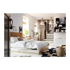IKEA furniture and home accessories are practical, well designed and affordable. Here you can find your country's IKEA website and more about the IKEA business idea. Cama Ikea, Ikea Bedroom Furniture, Furniture Design, Furniture Ideas, Ikea Mandal Bed, Bed Ikea, Home Bedroom, Bedroom Decor, Small Bedrooms
