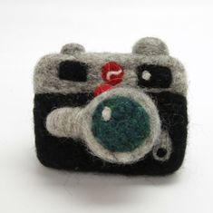 Needle Felted Camera by woolbuddy on Etsy