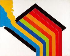 Antonio Palolo (1946 -2000)   Untitled - 1972    Hard Edge Painting, Op Art