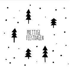 #kerst #kaart #kerstkaart #xmas #merry #christmas #fuif #zwart #wit #kerstbomen #kerstboom #stip #stippen $prettige #feestdagen #simpel #clean #hip #clipart #typografie