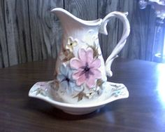 1970s pitcher and bowl by bbshop on Etsy, $25.00
