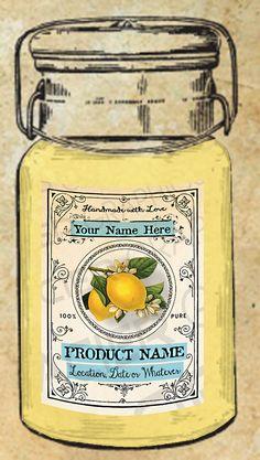 Limoncello Label Lemon Label Lemon Tags Lemon by WAGlacierGraphics