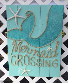 A personal favorite from my Etsy shop https://www.etsy.com/listing/232110094/handmade-mermaid-crossing-with-rope