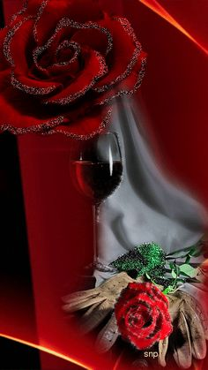 Romancing the Rose... By Artist Unknown...@;}~