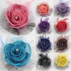 Neu Frauen Mädchen Handgemachte Haarspange Rose Blume Banane Haarnadel Klaue DE