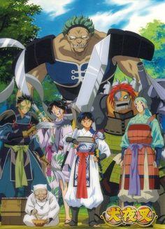 The Band of Seven- from back to front: Kyokotsu, Suikotsu, Jakotsu, Ginkotsu, Mukotsu, Bankotsu, Renkotsu