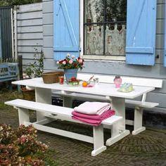 Kloostera tafel brocante wit