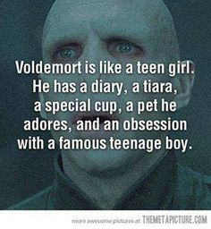 Voldemort IS like a teen girl!