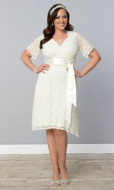 Check out the deal on Lace Confections Wedding Dress at Kiyonna Clothing