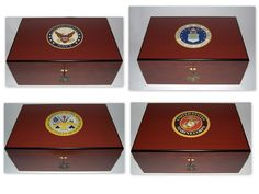 Army, Navy, Marine Corps, and Air Force Humidors