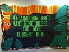 My Nicki-inspired sexual assault informational  bulletin board :) #reslife