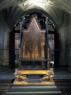 The Coronation Chair, Kings and Queens have been crowned on this chair since 1066