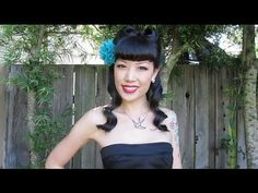 Victory rolls retro pinup hair tutorial for Asian Hair