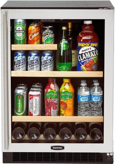 Marvel 24 glass door beverage center refrigerator 6barm755 and marvel undercounter refrigeratorbeverage center with cu capacity 3 glass shelves wine cradle amber led temperature display and uv resistant glass door planetlyrics Image collections