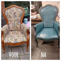 Stoel geverfd met Chalkpaint™ by Annie Sloan ~ Chair painted with Chalkpaint™ by Annie Sloan