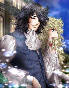 Lady Oscar, Candy Lady, Fairytale Dress, Marie Antoinette, Anime Love, Love Story, Manga Anime, Fan Art, Cartoon