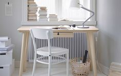 Ikea for guest room - Light desk and white chair