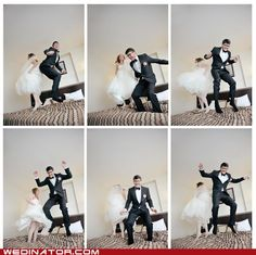 Love this idea for a fun set of pictures of the happy couple.