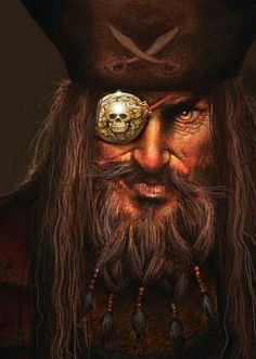m Rogue Thief Pirate portrait hat eye patch