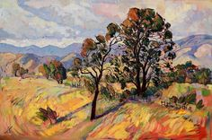 "Landscape Paintings and photographs : ""August Paso"" bold new oil painting by California artist Erin Hanson"