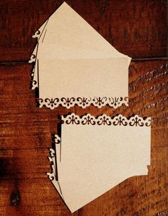 Blank Kraft Wedding Escort Cards Place Cards Business Cards Set of 20 - Hand Punched Damask. $8.98, via Etsy.