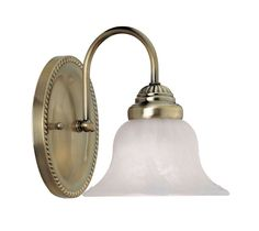 View the Livex Lighting 1531 Edgemont Bathroom Wall Sconce with 1 Light at LightingDirect.com.