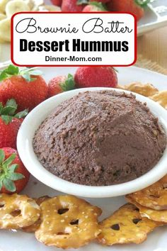 Healthy Dessert Hummus tastes like Brownie Batter and it's vegan, gluten-free and easy to make! You won't believe it has chickpeas in it! Low Carb Appetizers, Low Carb Desserts, Appetizers For Party, Healthy Desserts, Appetizer Ideas, Appetizer Recipes, Healthy Recipes, Vegan Dessert Recipes, Snack Recipes