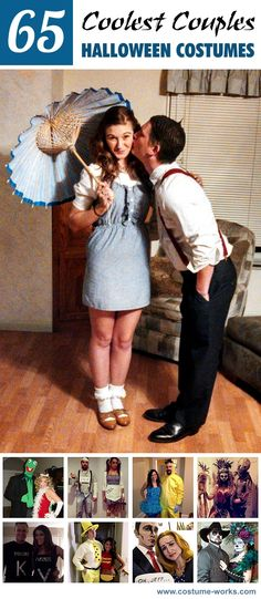 A couples costume could be just what you need to be set yourself apart from the crowd. It's a great way to involve your significant other or even a close friend in on the fun. Check out some of the coolest couples Halloween costumes from our contest. Cool Couple Halloween Costumes, Funny Couple Costumes, Funny Couples, Diy Halloween Costumes, Adult Costumes, Halloween Party, Halloween Couples, Pirate Costumes, Halloween Recipe