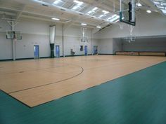 Tarkett Sports Omnisports 6.5 Greenlay in Golden Maple and Green Maple in Quaker Hill, CT.