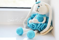 Crochet Rabbit doll Easter gifts