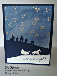 Sleigh Ride Edgelits Dies and Jingle All the Way Stamp Set from the 2015 Stampin'Up! Holiday catalog.  See my blog for more details:http://stampinwithpat.blogspot.com/2015/08/jingle-all-way-to-grandmas-house.html