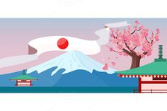 Japan Travelling Banner by robuart on @creativemarket